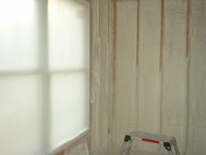 Open cell spray foam insulation.