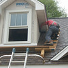 Beemer John siding the dormer.