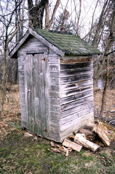 Old Outhouse found near Palisade, MN