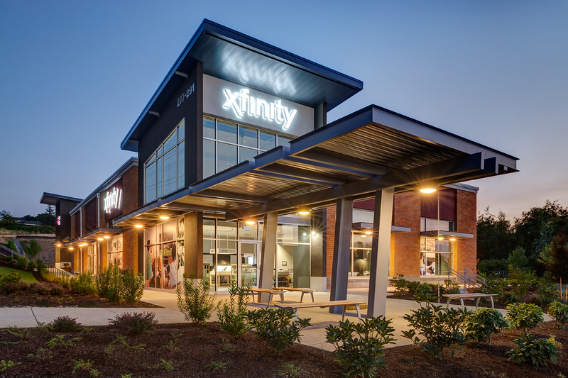 Gresham Crossing Shopping Center, Gresham OR.  Client:  Baysinger Partners Architecture, Portland OR