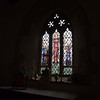 A very nice piece of stained glass in the east window.