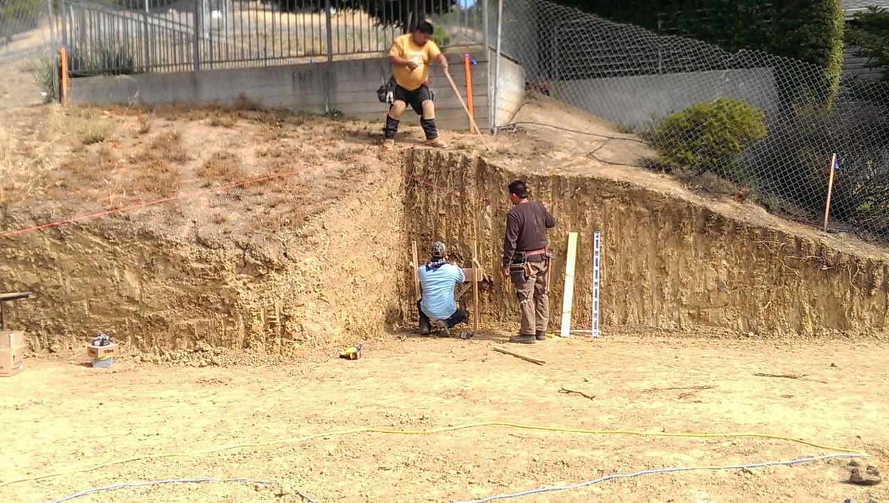 2014-06-16 Concrete work begins