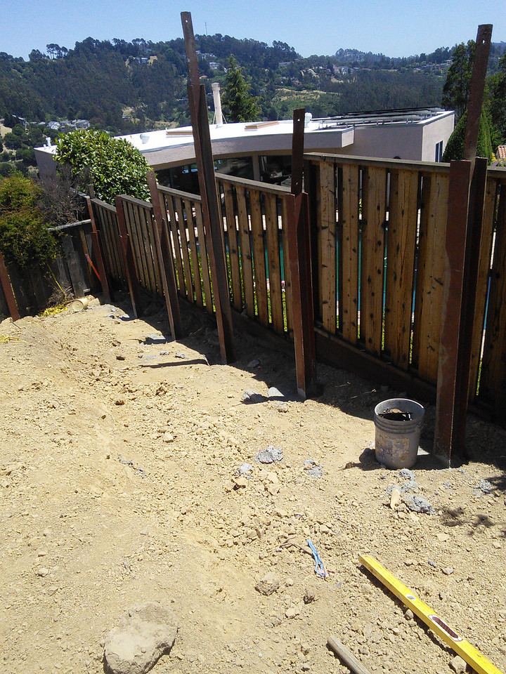 2014-06-03 Building the retaining wall