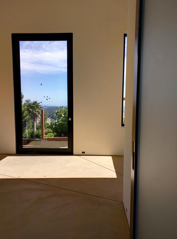 My lovely bedroom door, facing south