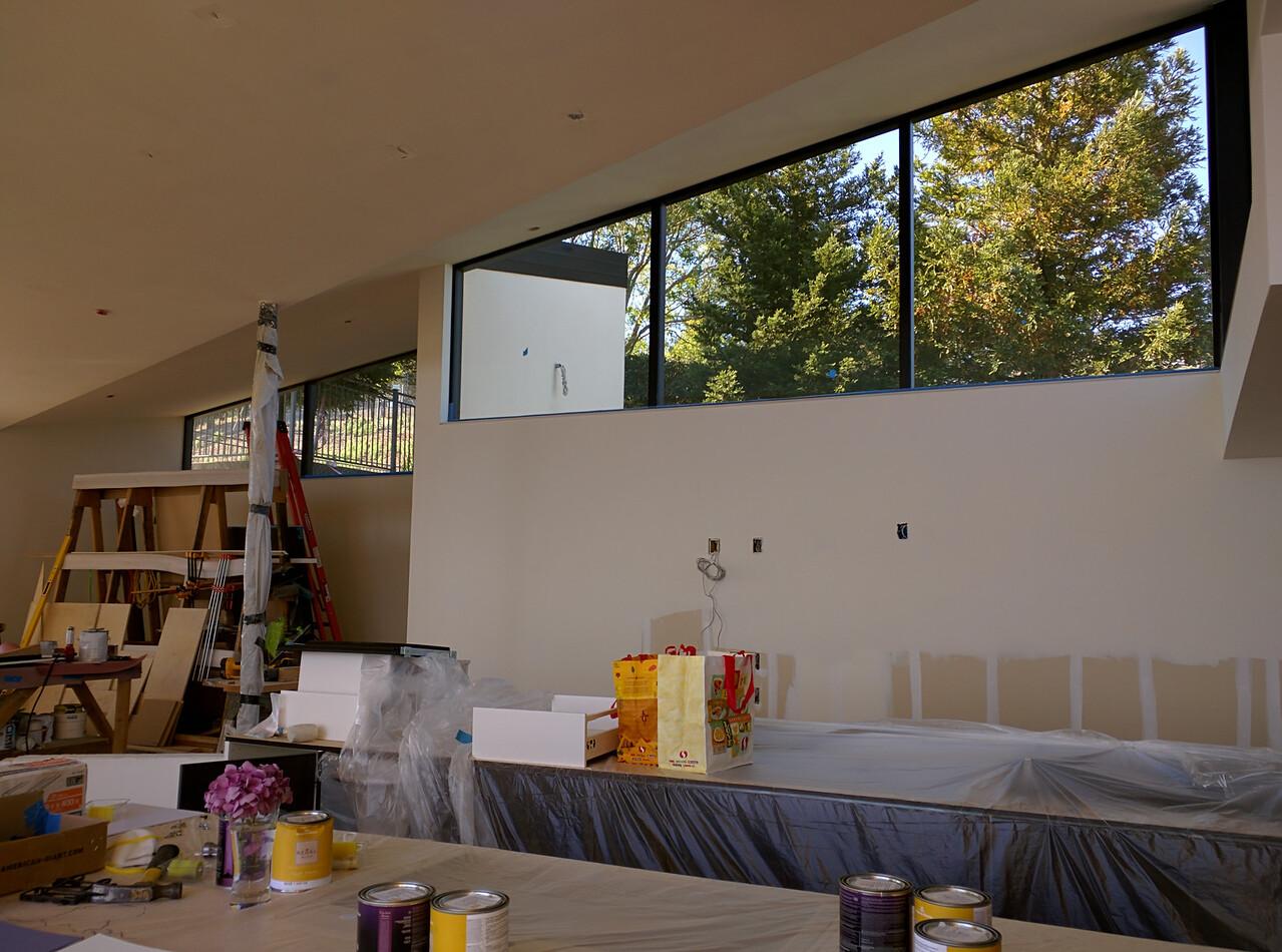 Overlooking the kitchen.