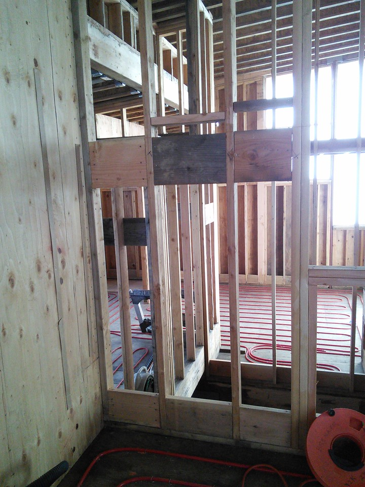 2015-01-18 Blocking and plumbing