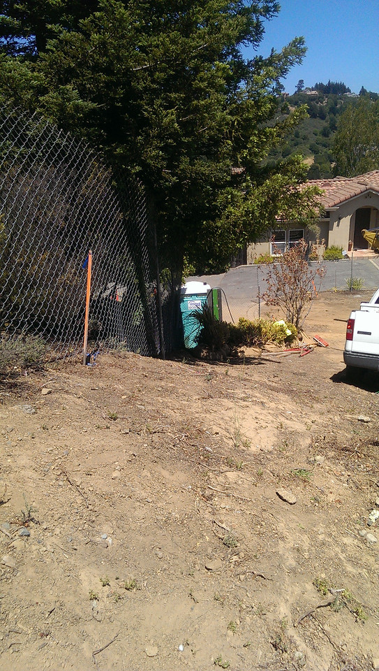2014-06-05 Temporary fencing up