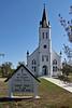 Exterior, Saint John the Baptist Catholic Church, Ammonnsville, Tx.