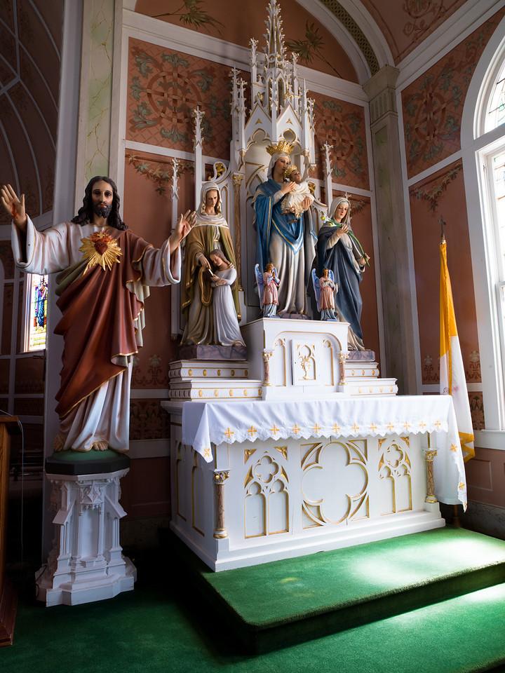 Side Altar. Inside St John the Baptist, Ammannsville, TX