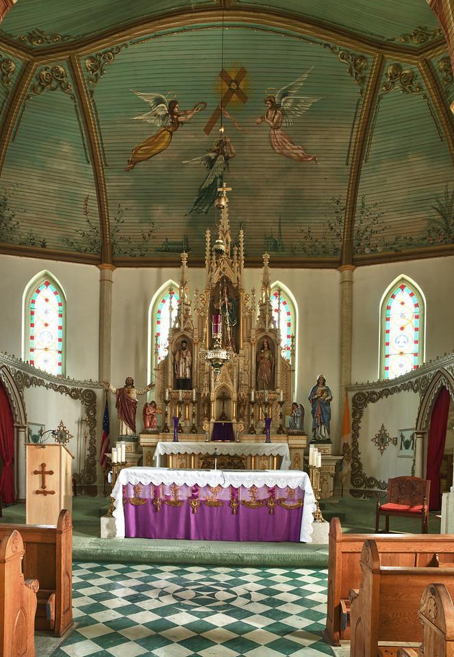 Inside St. Mary's,  Praha, TX