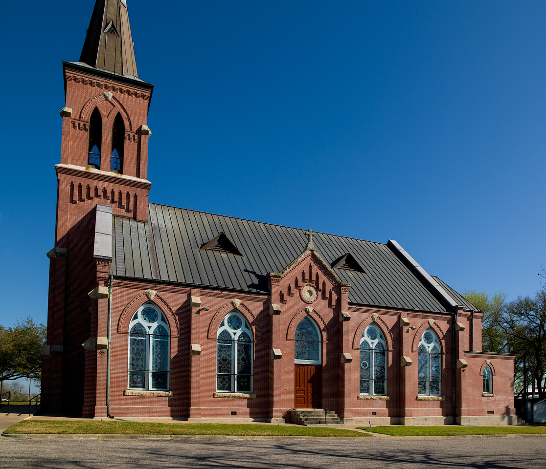 St. Mary's Catholic Church in High Hill, Texas.  This was the only German church