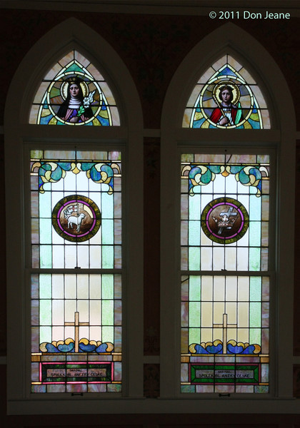 Stained Glass Windows, Saint John the Baptist Catholic Church.