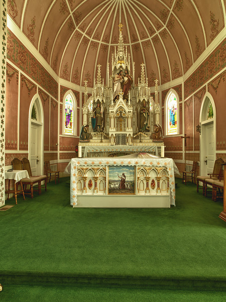 Inside St John the Baptist, Ammannsville, TX