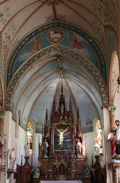 Interior, Nativity of Mary, Blessed Virgin Catholic Church.