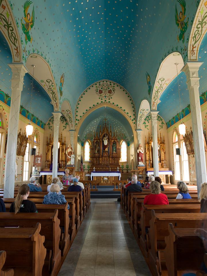 Inside Saints Cyril and Methoduis Catholic Church, Dubina, Tx