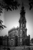 Old pictue of the Hofkirche. As you look at the panorama, imagine you are standing in the tower.