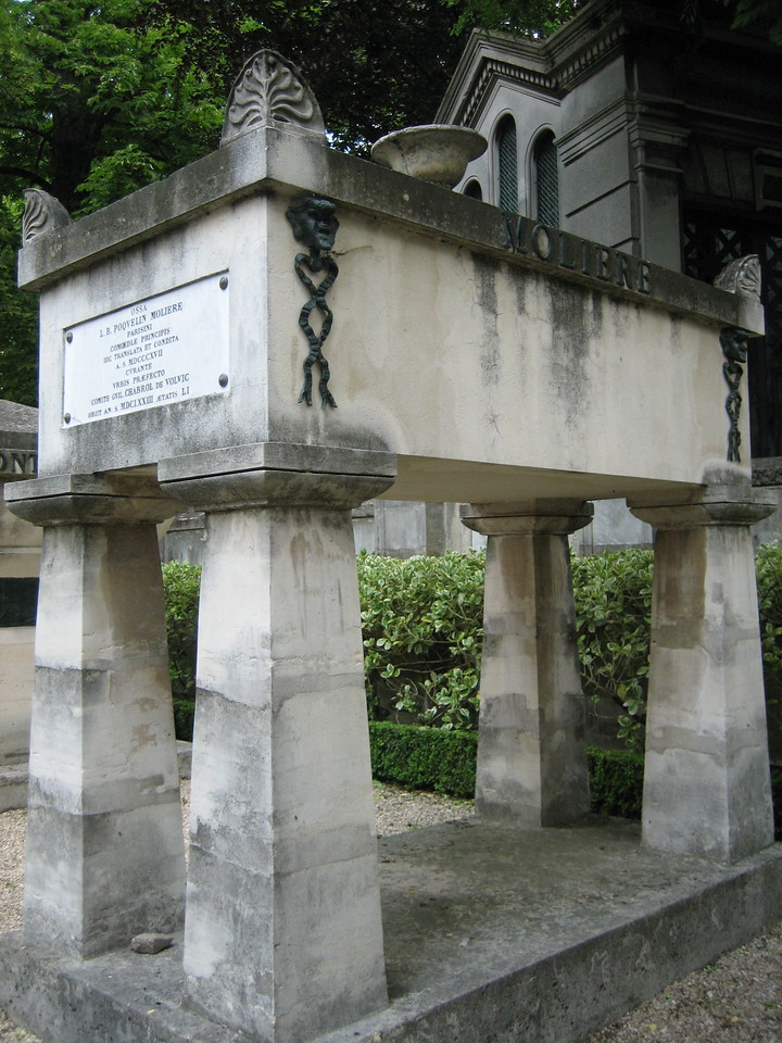 Molière's grave, famous French writer