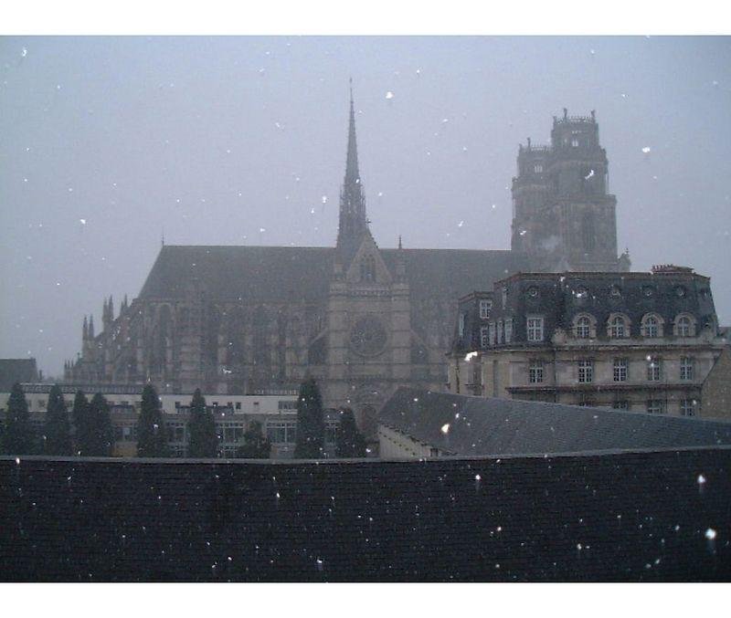Orleans  Cathedral  under snow    2002<br /> Bessa R  <br /> Trix 400