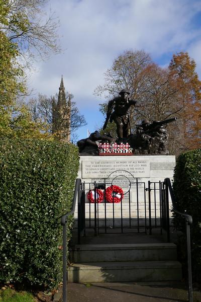 Cameronians War Memorial, Kelvingrove Park