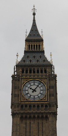 West face of the clock at the top of Elizabeth Tower - NOT Big Ben