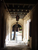The Pasadena Playhouse, an historic building in Pasadena, Caliornia. This is looking from a small exit alcove on the north side of the building at mid-day towards the courtyard and street beyond. At f/2, 1/250 sec.