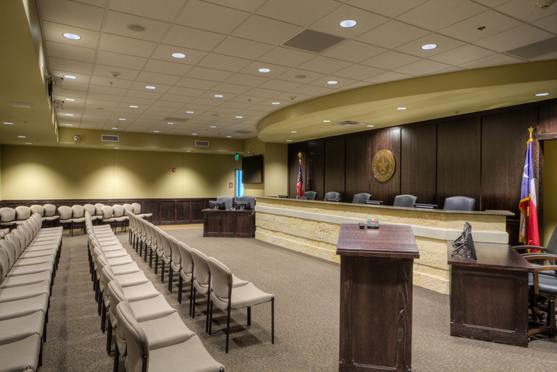 City Council Chambers at City Hall, Kerrville, Texas