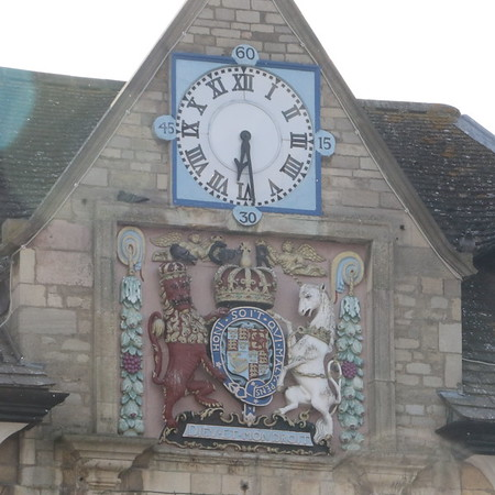 Clock and Crest on Peterborough Guildhall
