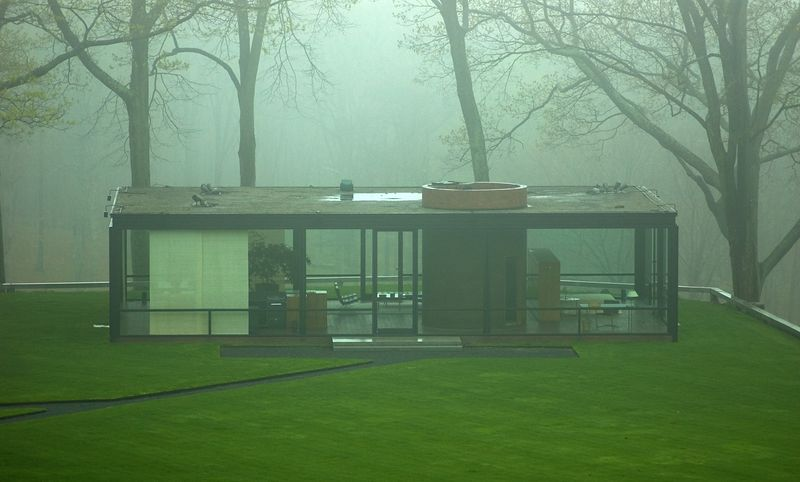 Closeup of the Glass House