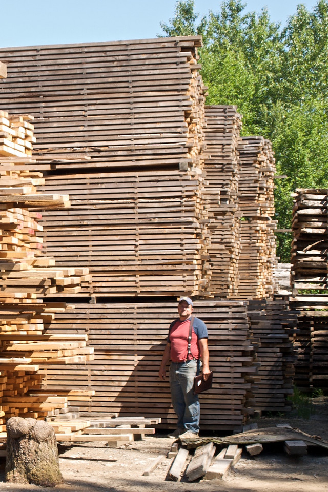 Pitchwood Lumber: Some of the 100,000 board feet of lumber milled from blow-down from the December 2006 windstorm.