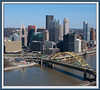 Pittsburgh Skyline, from platform of the Incline Station