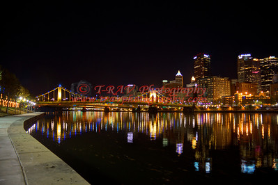 Roberto Clemente Bridge Glowing 8908