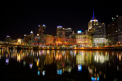 City of Pittsburgh Glowing 8911