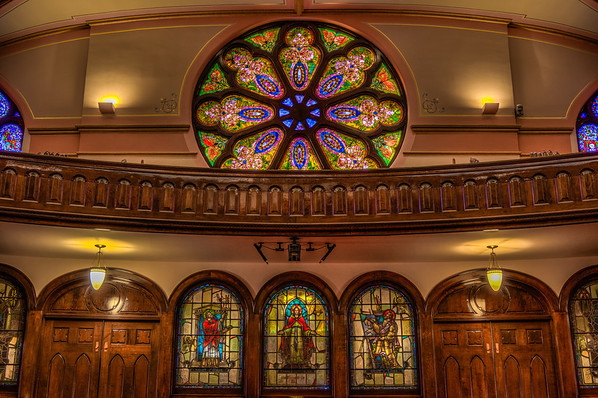 Westminster Presbyterian Church HDR, Stained Glass HDR, Minneapolis