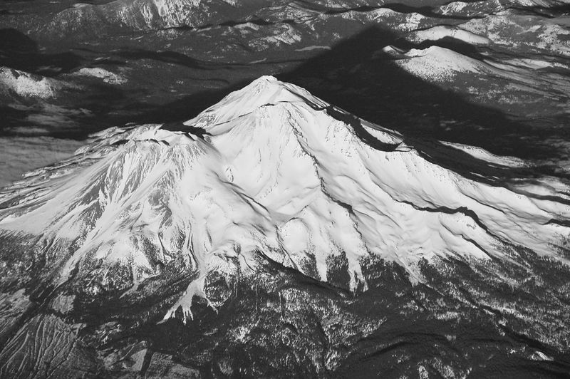 It Hasta Be Shasta (from 35,000 feet)