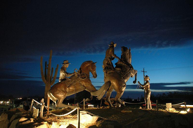 Cowhand Scultpture, Rawhide, AZ