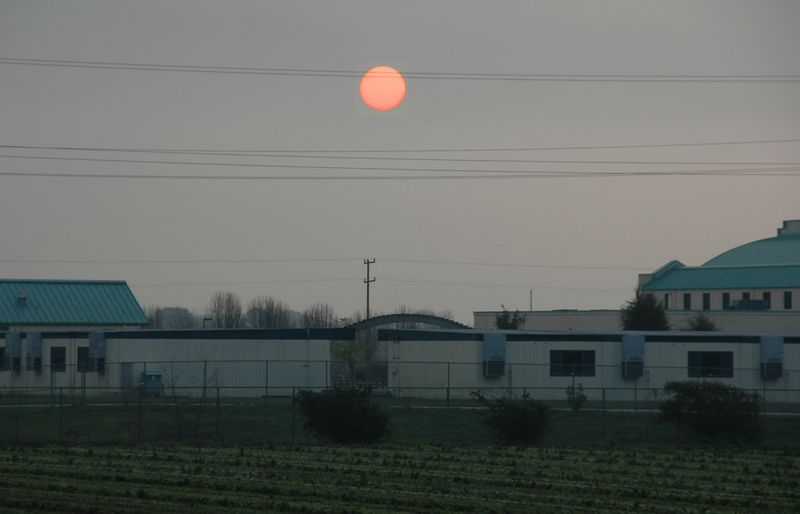 Sunrise Through The Fog - San Juan Bautista, CA  - Sigma 18-125