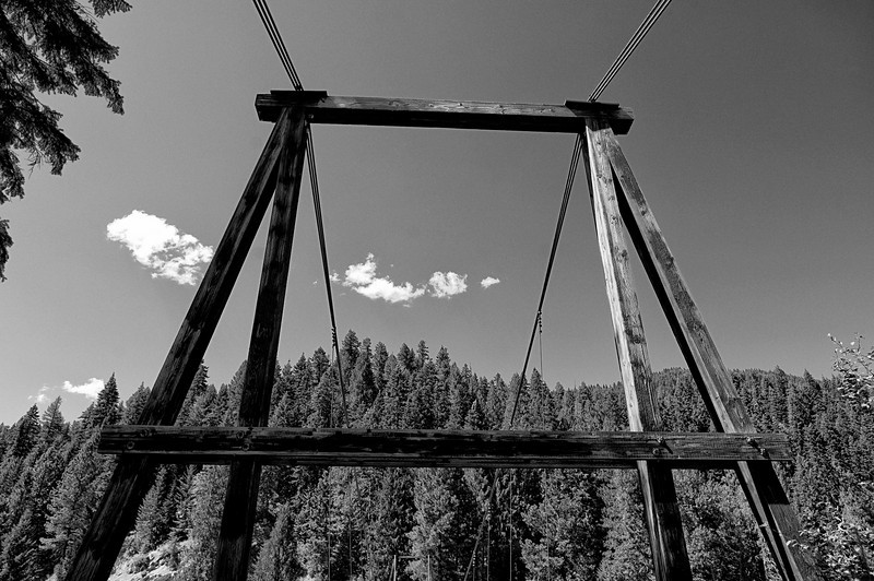 The suspension tower of the bridge really fascinated me.