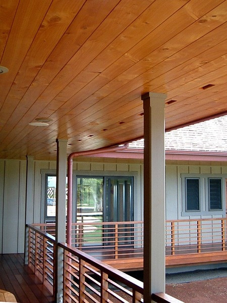 Covered lanai - wood ceiling and soffetts