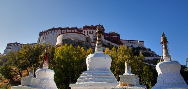 Alternate viewing of the Potala Palace, Lhasa, Tibet 2011