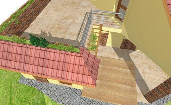 1st - Upper terrace (on the garage)