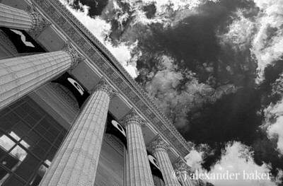 Columns and sky  - Philadelphia Museum of Art.