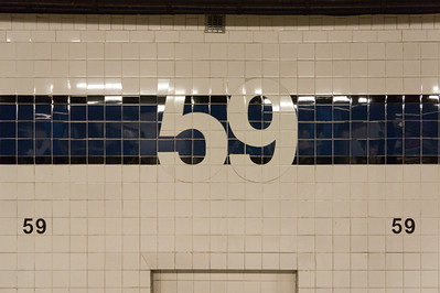 Modernist tile work at 59th Avenue, New York.