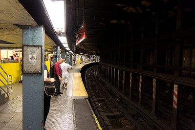 Some platforms on the New York Subway, including this one at Union Square, are so sharply curved that they require retractable platform extensions to bridge the gap between car and platform once the train stops in the station.