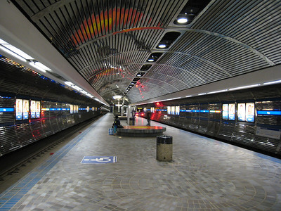 80s chic: Bay Station, Edmonton LRT