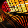 Sculpture and stained glass at Vendôme station, Montreal Metro.