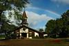 A rainbow over Queen Lili'uokalani Church <br><br>North Shore of O'ahu, Hawai'i