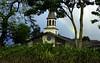 Lili'uokalani Church with a rainbow on a misty day <br><br>North Shore of O'ahu, Hawai'i