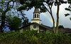 Lili'uokalani Church with a rainbow on a misty day <br><br>North Shore of O'ahu, Hawai'i