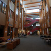 Main floor of the Library building at Quest University in Squamish.