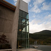 Detail of the Library building at Quest University, Squamish.